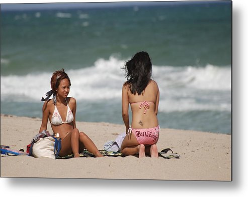 Sea Scape Metal Print featuring the photograph Billabong Girls by Rob Hans