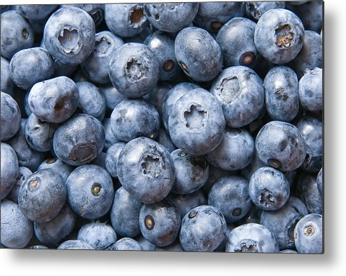 Agriculture Metal Print featuring the photograph Blueberries by Jaroslaw Grudzinski