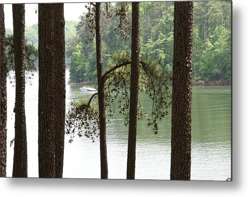 Boat Metal Print featuring the photograph Boating On The Lake by Judy Moses