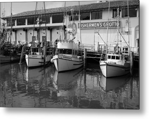 Water Metal Print featuring the photograph Boats At The Dock by Brian Anderson