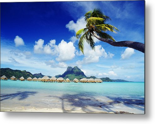 Afternoon Metal Print featuring the photograph Bora Bora, Lagoon Resort by Himani - Printscapes