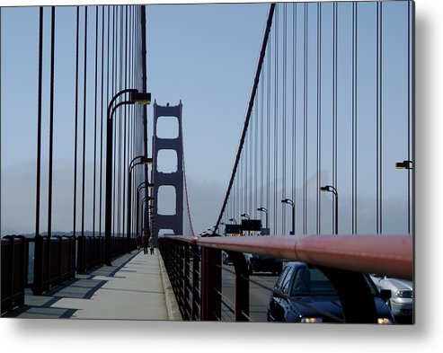 San Francisco Metal Print featuring the photograph Bridge Walk by Sonja Anderson