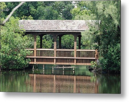 Architecture Metal Print featuring the photograph Bridges Of Miami Dade County by Rob Hans