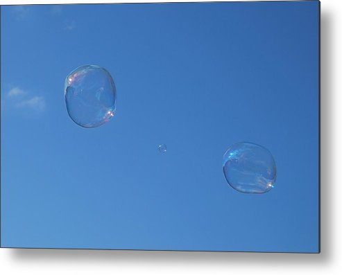 Bubbles Metal Print featuring the photograph Bubble Forms I by Marilynne Bull