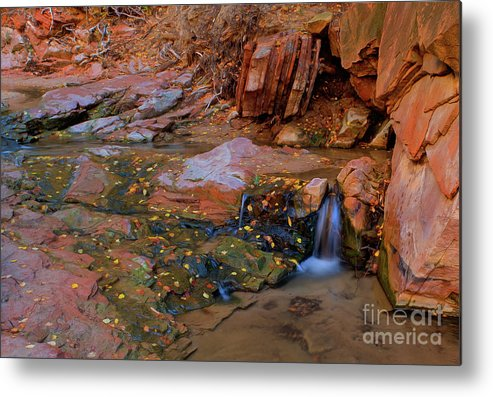 New Mexico Metal Print featuring the photograph Canyon Reflections 2 by Kenneth Eis