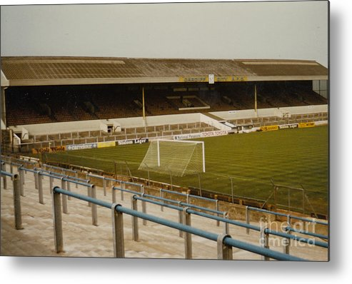 Cardiff City Metal Print featuring the photograph Cardiff - Ninian Park - West Stand 2 - 1969 by Legendary Football Grounds