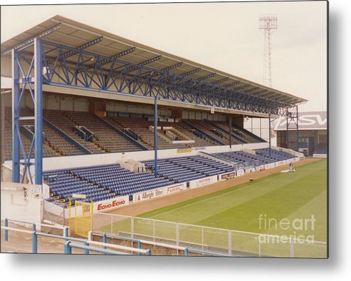 Cardiff City Metal Print featuring the photograph Cardiff - Ninian Park - West Stand 4 - October 1993 by Legendary Football Grounds