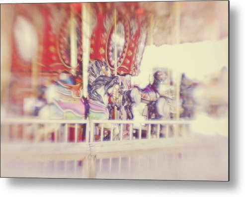 Carousel Metal Print featuring the photograph Carousel by Denise Snyder