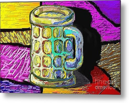 Digital Art Metal Print featuring the painting Cervesa by Xavier Ferrer