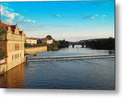 Prague Metal Print featuring the photograph Charle's Or Carl's Bridge View In Prague by Evgeny Ivanov