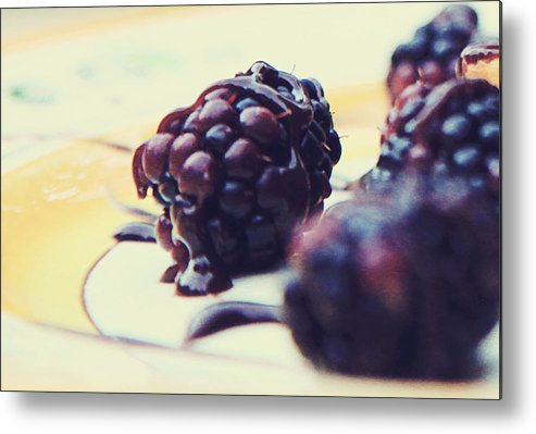 Food Metal Print featuring the photograph Chocolate Drizzle by Toni Hopper