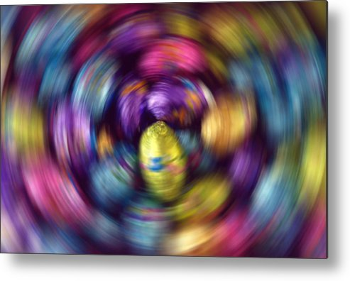 Easter Metal Print featuring the photograph Chocolate Easter Eggs With Spin Effect by Steve Ohlsen