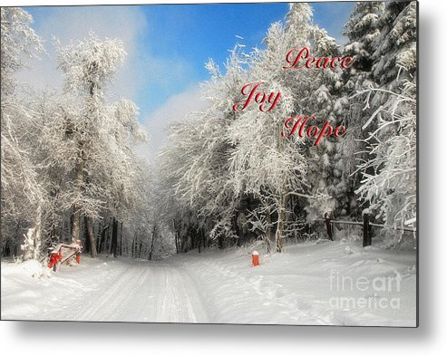 Christmas Metal Print featuring the photograph Clearing Skies Christmas Card by Lois Bryan