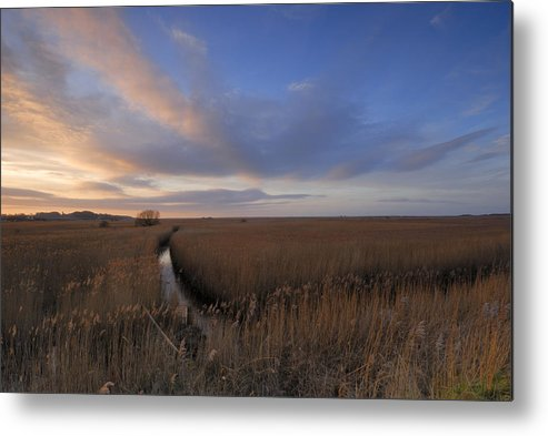 England Metal Print featuring the photograph Cley Marshes by Liz Pinchen