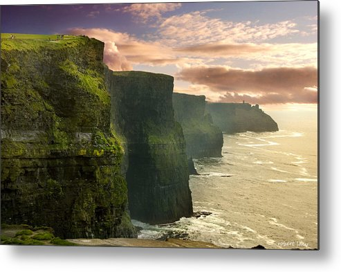 Cliffs Of Moher Metal Print featuring the photograph Cliffs Of Moher - 2 by Robert Lacy