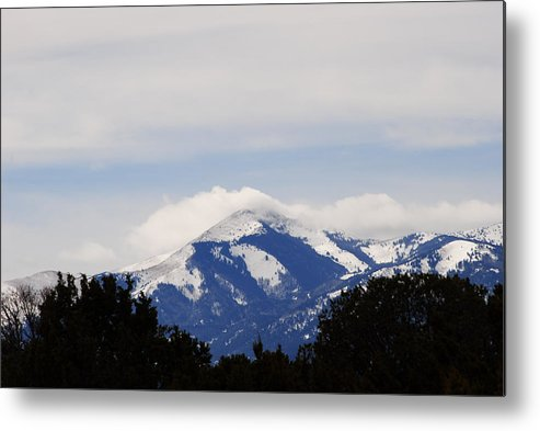 Mountains Metal Print featuring the photograph Clouds And Snow On Sierra Blanca by Jon Rossiter