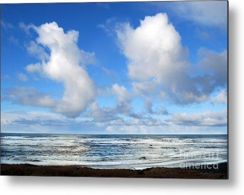 Ocean Metal Print featuring the photograph Clouds At Play by Larry Keahey