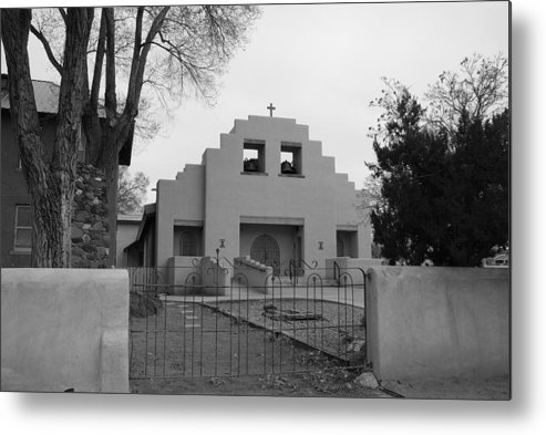 Architecture Metal Print featuring the photograph Cochiti Church by Rob Hans
