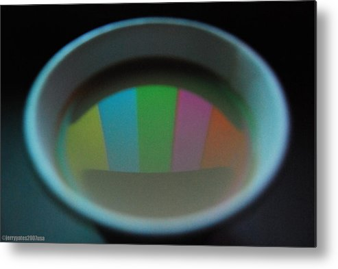 Cup Metal Print featuring the photograph Color Bars by Gerard Yates