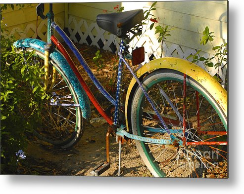 Bicycle Metal Print featuring the photograph Colorful Bike by David Lee Thompson