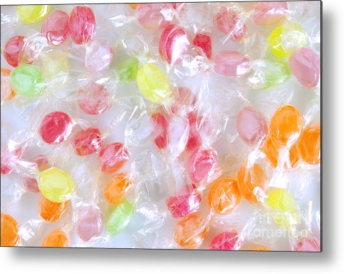 Assorted Metal Print featuring the photograph Colorful Candies by Carlos Caetano