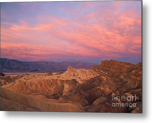 Death Valley Metal Print featuring the photograph Colorful Mountains by Sven Brogren