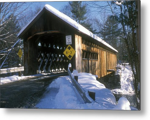 Covered Bridge Metal Print featuring the photograph Coombs Winchester Covered Bridge by John Burk