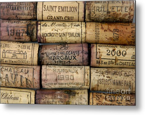 Bouchons Metal Print featuring the photograph Corks Of French Wine by Bernard Jaubert