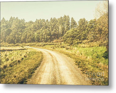 Australian Metal Print featuring the photograph Countryside Road In Outback Australia by Jorgo Photography - Wall Art Gallery