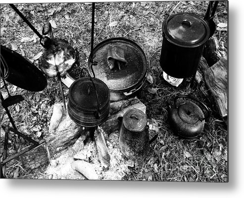 Cooking Metal Print featuring the photograph Cowboy Cooking by David Lee Thompson