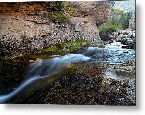 Crazy Woman Creek Metal Print featuring the photograph Crazy Woman Creek by Larry Ricker