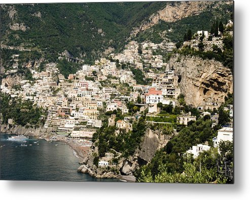 Amalfi Metal Print featuring the photograph Crowded Slopes Of Amalfi by Charles Ridgway