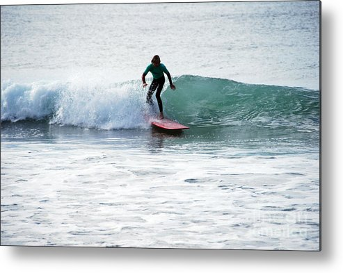 Beach Metal Print featuring the photograph Cruising Along Nicely by Joe Scoppa