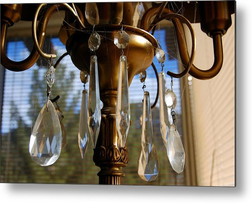 Photograhpy Metal Print featuring the photograph Crystals And Webs by Heather S Huston