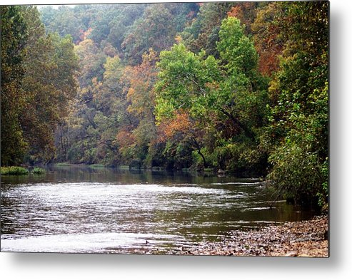 Current River Metal Print featuring the photograph Current River Fall by Marty Koch