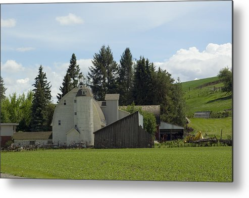 Barn Metal Print featuring the photograph Dahmen Barn Historical by Louise Magno
