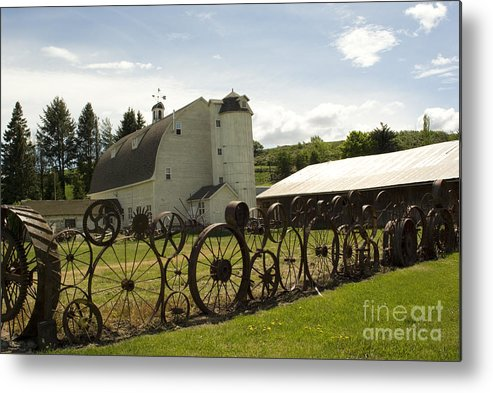 Historic Barn Metal Print featuring the photograph Dahmen Barn by Louise Magno