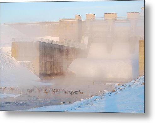 Dam Metal Print featuring the photograph Dam Cold by Peter McIntosh