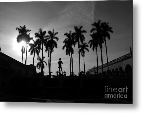 David Metal Print featuring the photograph David With Palms by David Lee Thompson
