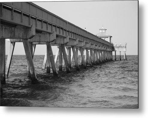 Architecture Metal Print featuring the photograph Deerfield Beach Pier by Rob Hans