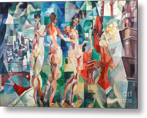 1910s Metal Print featuring the photograph Delaunay: City Of Paris by Granger
