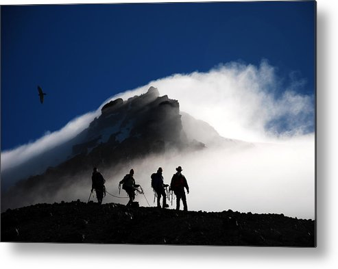 Climbers Metal Print featuring the photograph Descent From Storm by Alasdair Turner