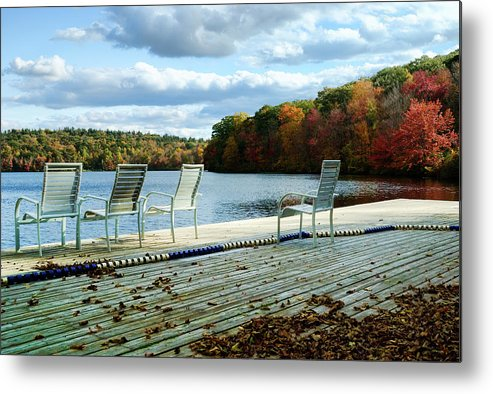 Landscape Metal Print featuring the photograph Dockside by Tom Heeter