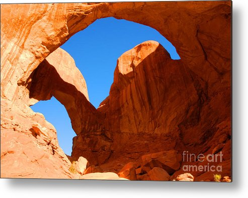 Arches Metal Print featuring the photograph Double Arch by Dennis Hammer
