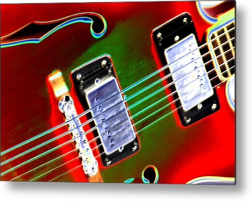 Guitar Metal Print featuring the digital art Electric Guitar by Peter McIntosh