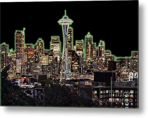 Colorful Metal Print featuring the photograph Emerald City by Larry Keahey