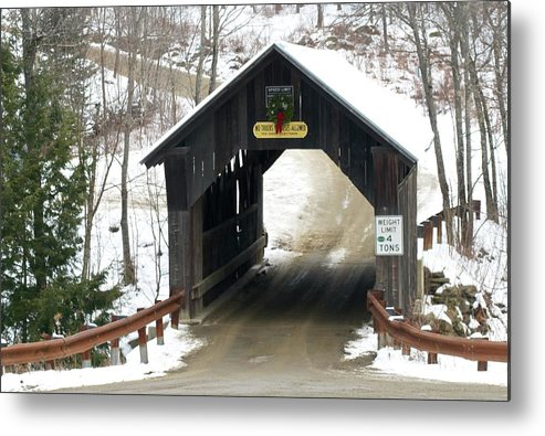 Metal Print featuring the photograph Emily's Covered Bridge by James Walsh