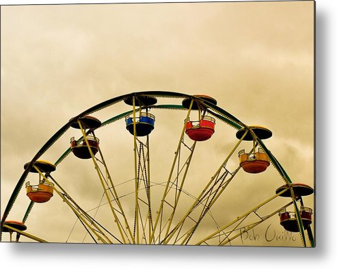 Carnival Metal Print featuring the photograph Empty Seats by Bob Orsillo
