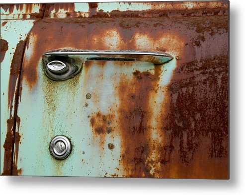 Door Metal Print featuring the photograph Enter by Jennifer Owen