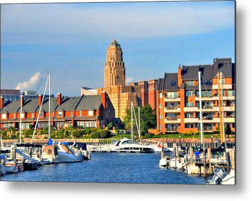 Marina Metal Print featuring the photograph Erie Basin Marina by Kathleen Struckle
